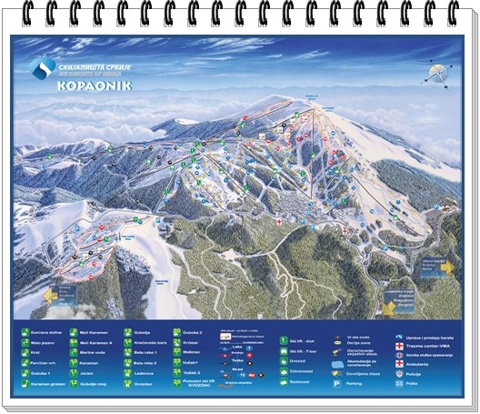 kopaonik-mapa ski staza